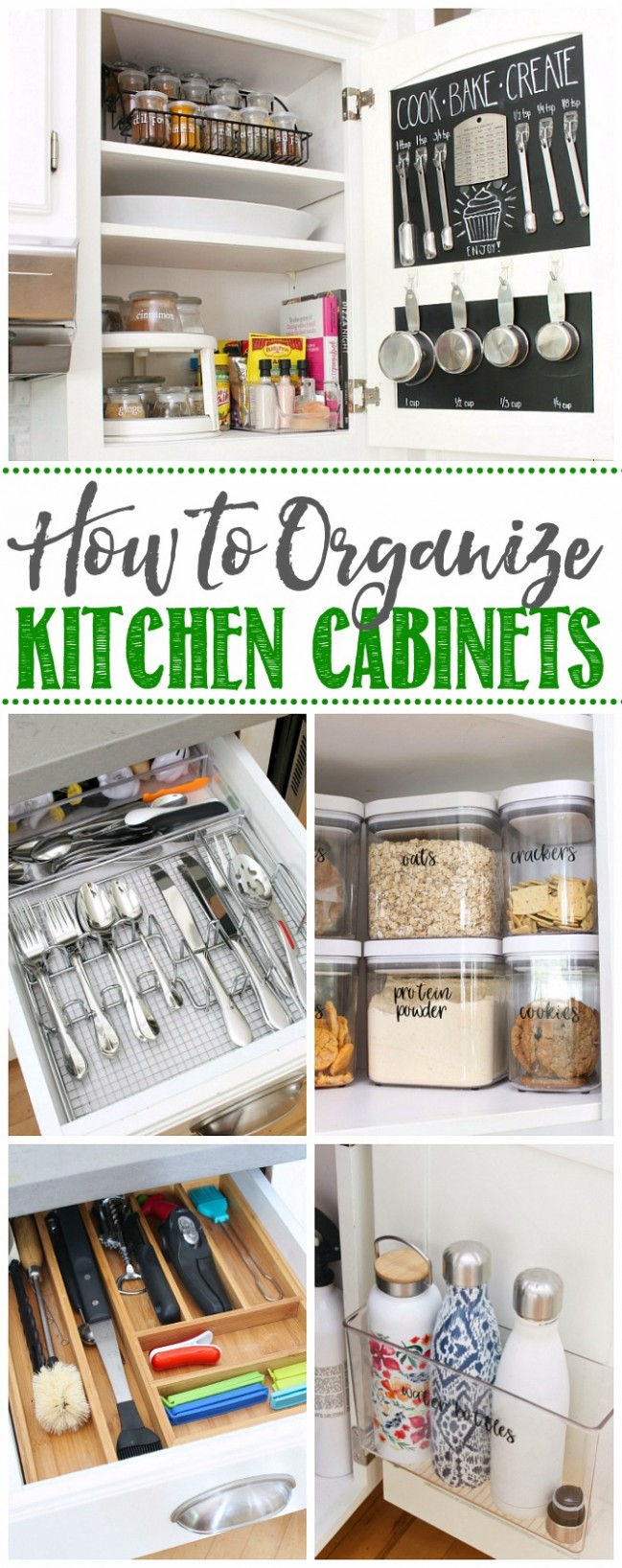 How to Organize Kitchen Cabinets - Clean and Scentsible - How To Place Items In Kitchen Cabinets