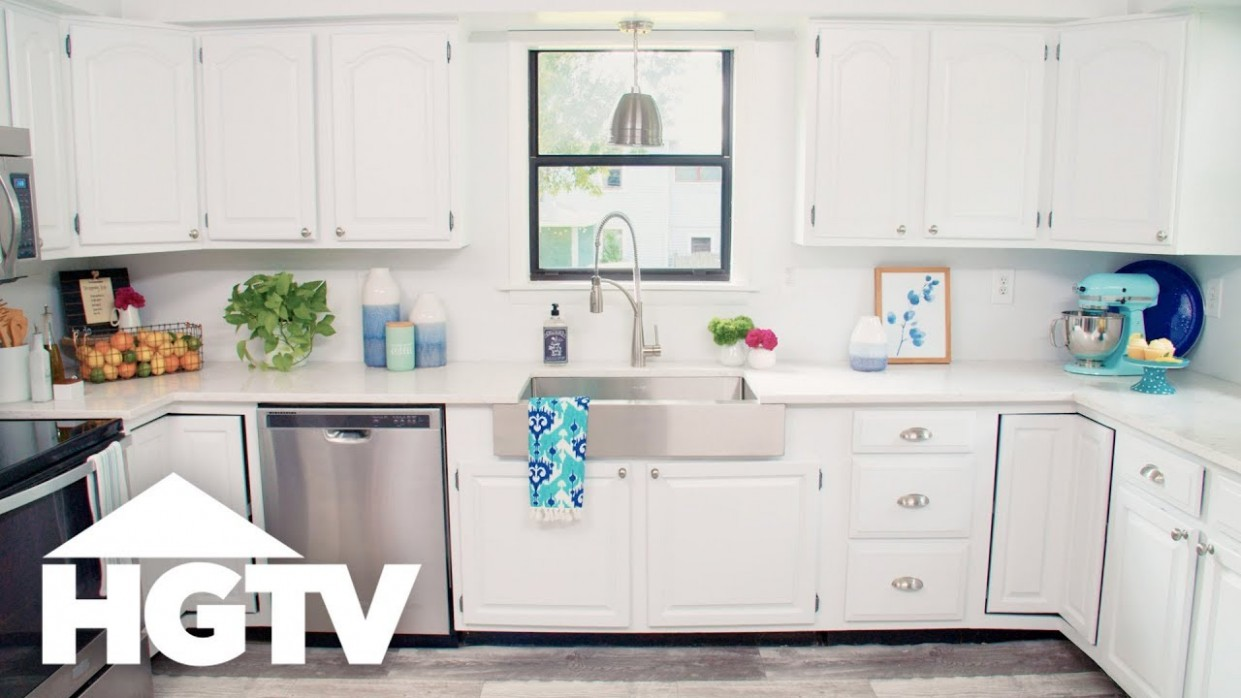 How to Paint Kitchen Cabinets - HGTV - Youtube Painted Kitchen Cabinets