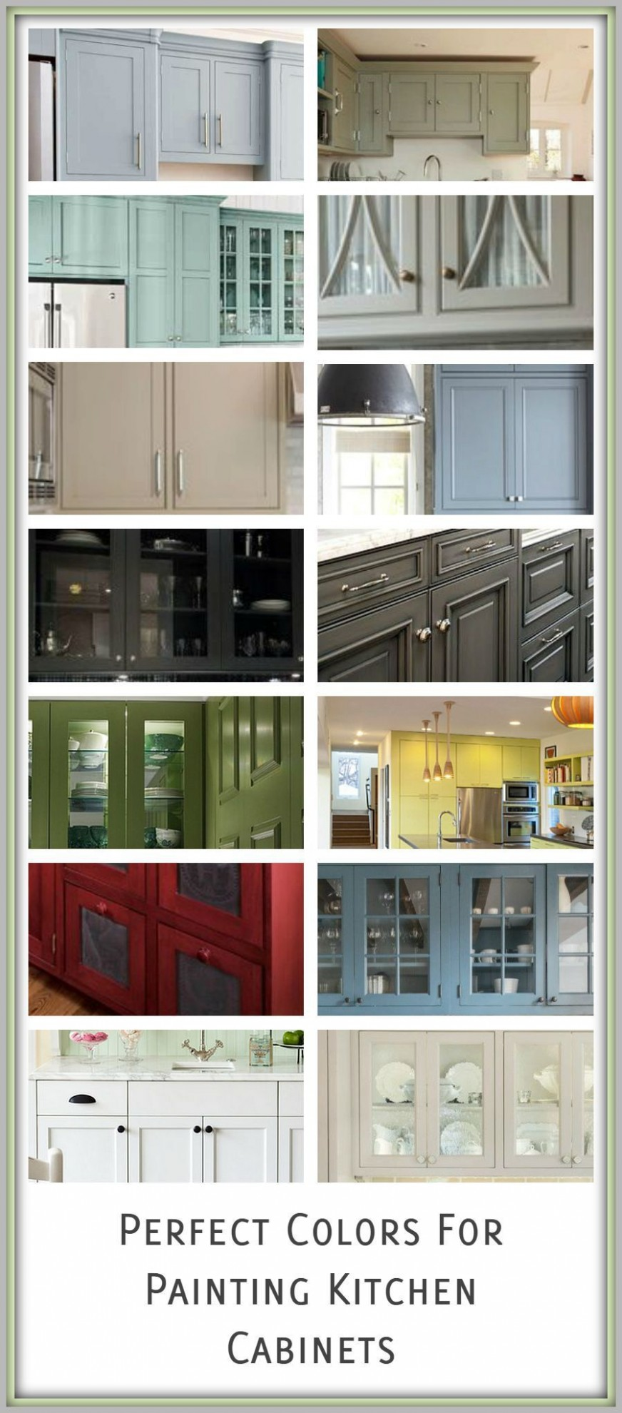 How to Pick Paint Colors for Kitchen Cabinets - Painted Furniture  - Choosing Kitchen Cabinet Color