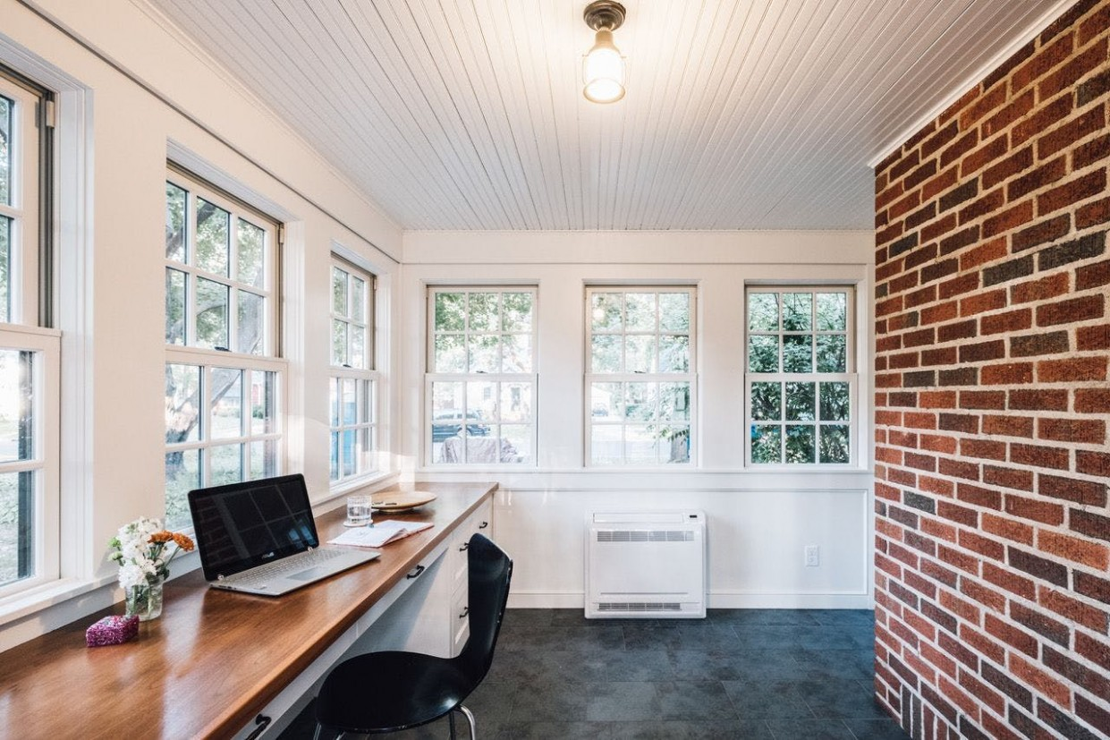 How to transform an unheated Minnesota porch into a comfortable  - Sunroom Ideas For Office