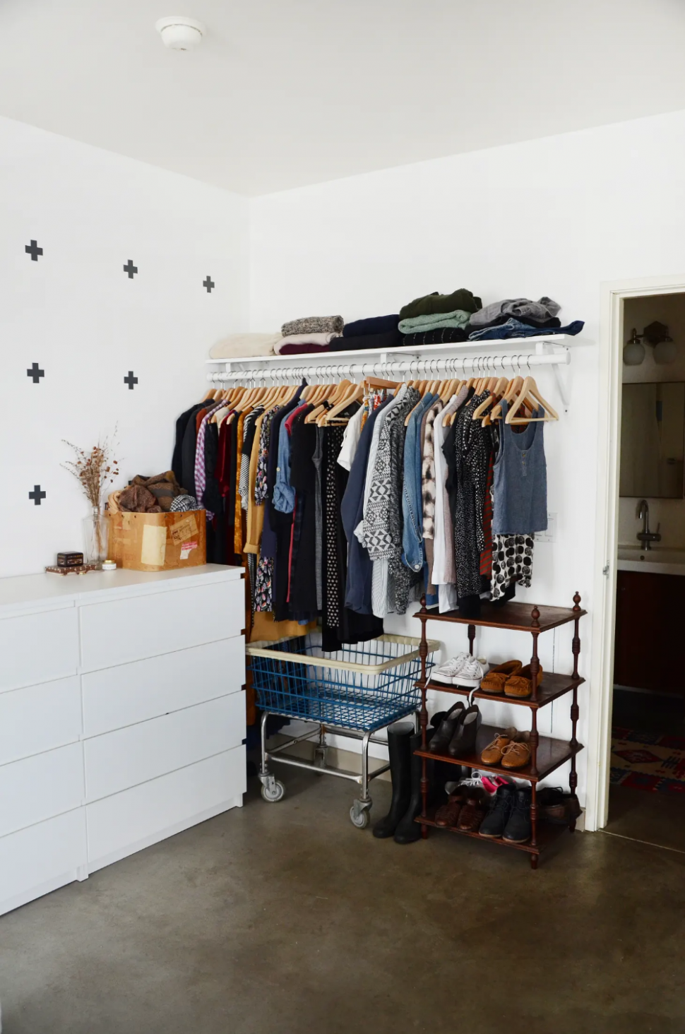 I Added One Tiny (Free) Thing to My Closet and Instantly Started  - Closet Ideas Apartment
