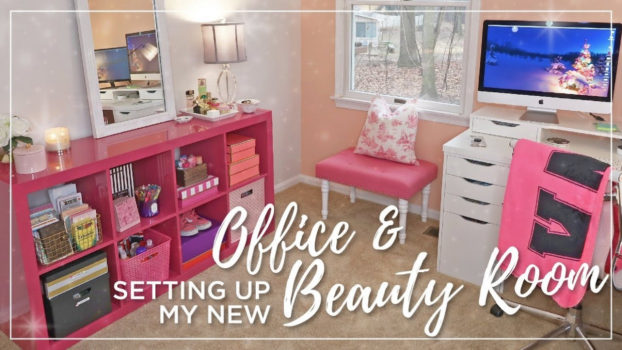 Ikea Beauty Room & Office Set Up  Decorating, organizing, painting   Office & Makeup Room Makeover - Makeup Room And Home Office