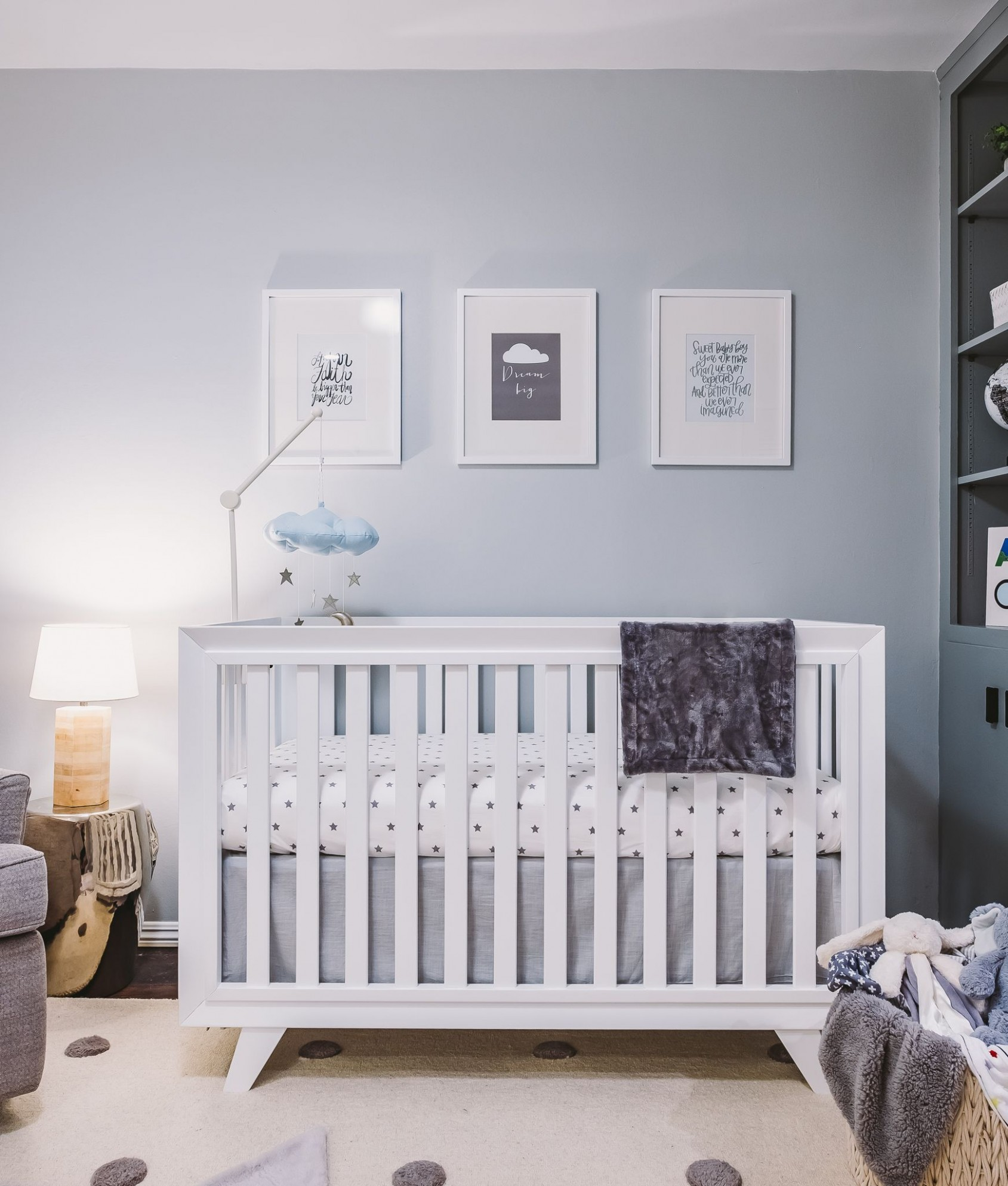 In the Nursery with Jordin Sparks - Project Nursery  Baby blue  - Baby Room Blue