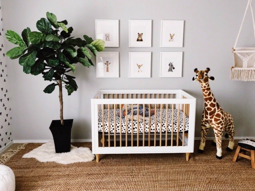 In the Nursery with Sparrows and Lily - Project Nursery  Baby boy  - Baby Room Jungle Theme Ideas