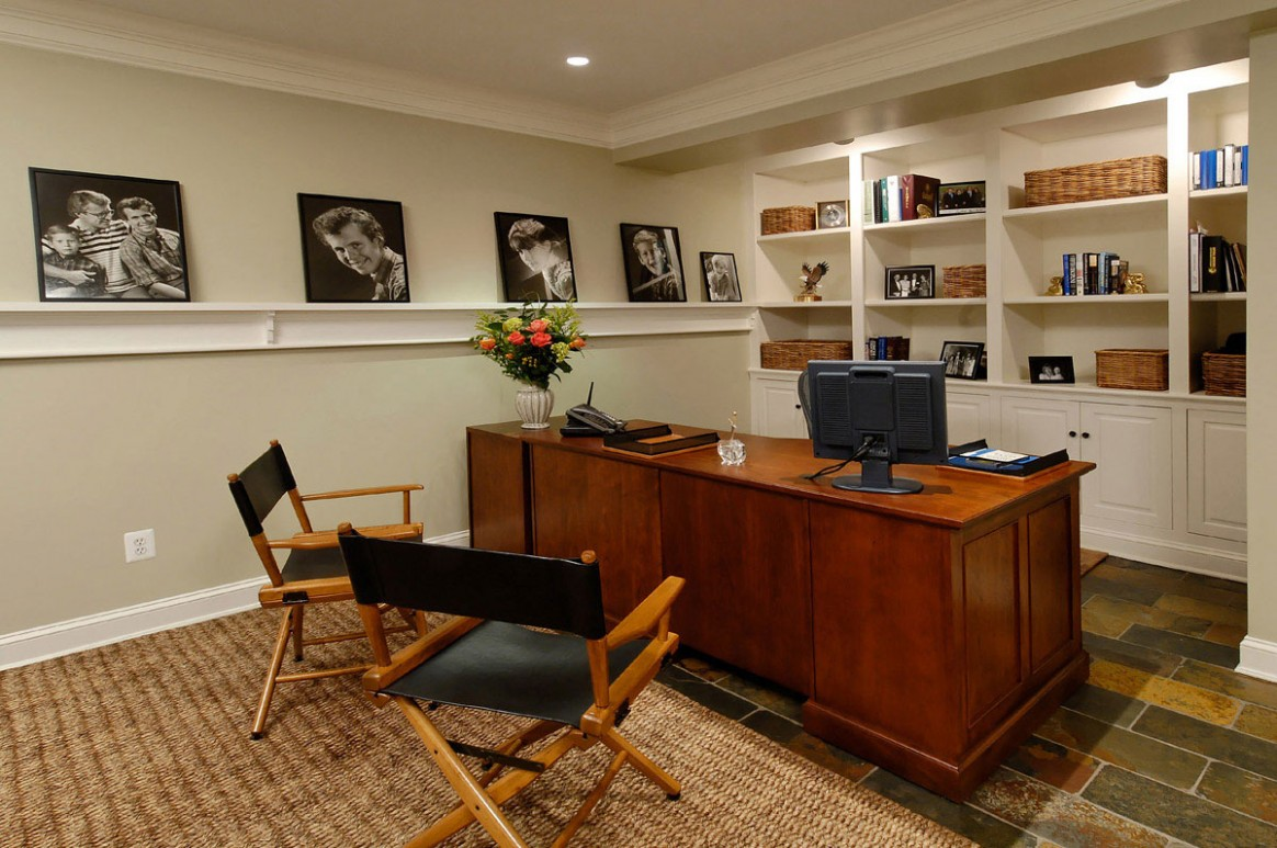 Innovative Home Office In Basement Area Design Interiors  - Home Office Ideas For Basement