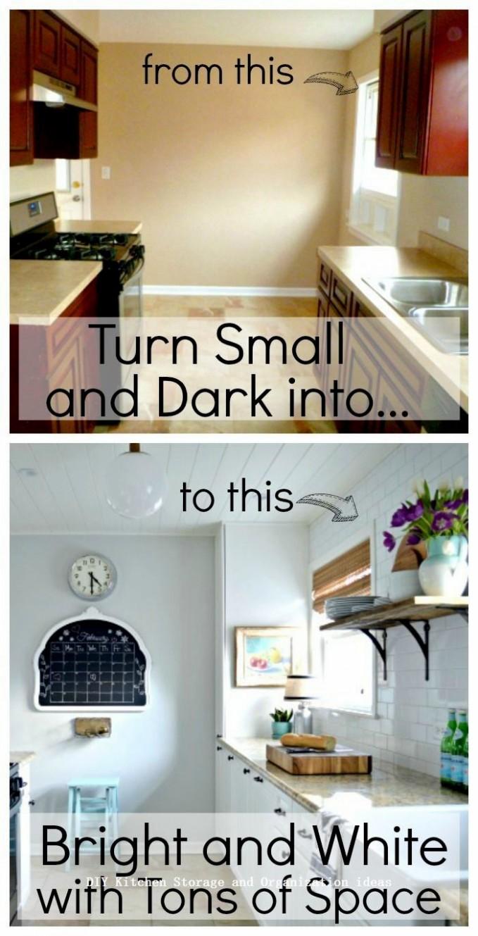 Insanely Sensible DIY Kitchen Storage Ideas #kitchenideas  - Diy Galley Kitchen Cabinet Ideas