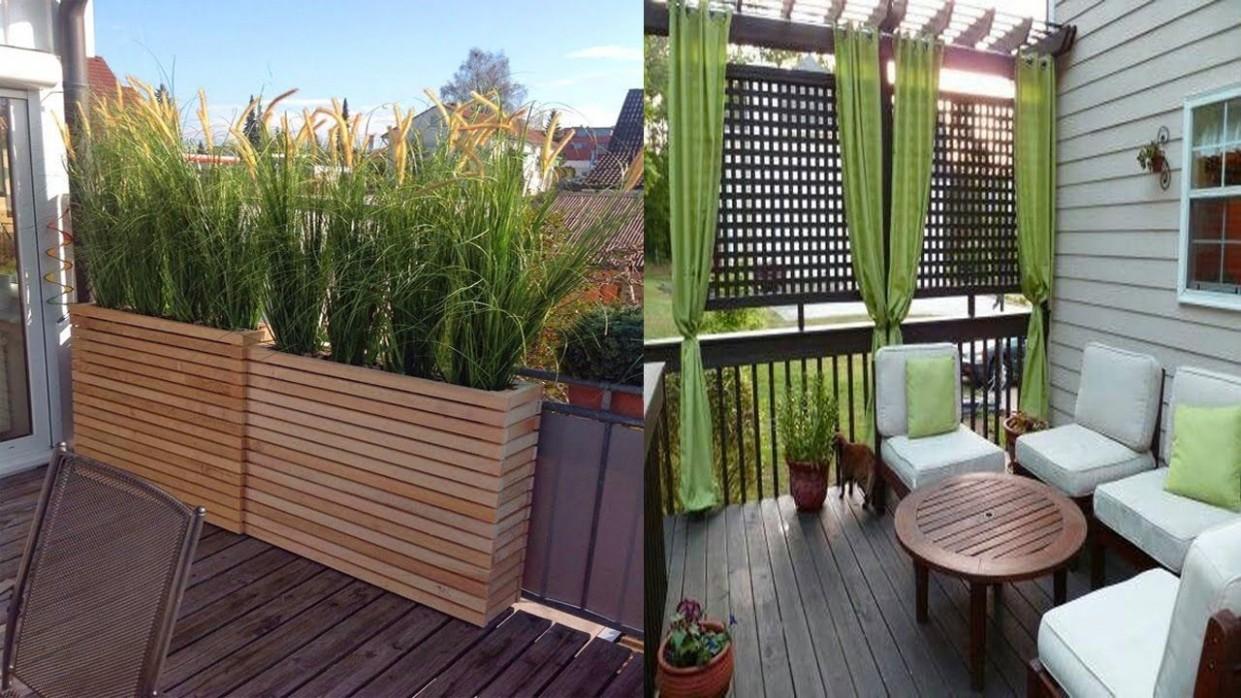inspiring small balcony privacy screen ideas small balcony designs  - Apartment Balcony Enclosure Ideas