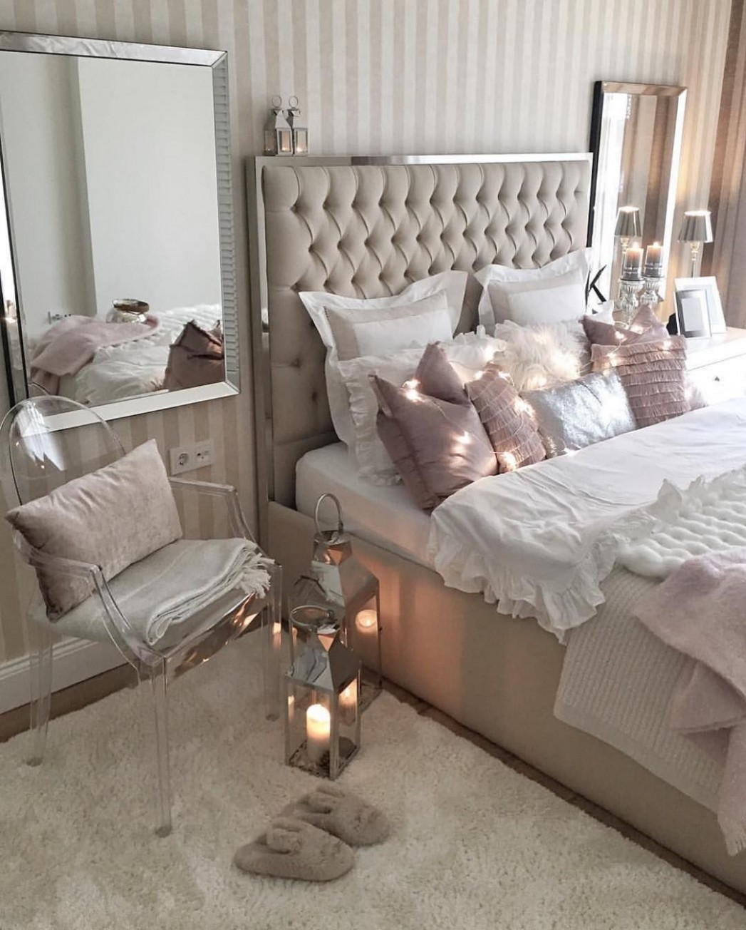 "Interior & Decor Inspiration on Instagram: ""Cozy bedroom vibes  - Bedroom Ideas Instagram"