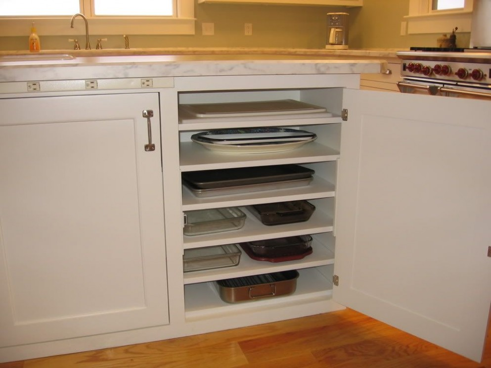 Islands with beadboard and casserole dish storage ?  Kitchen  - What To Do With Skinny Vertical Cabinet Kitchen