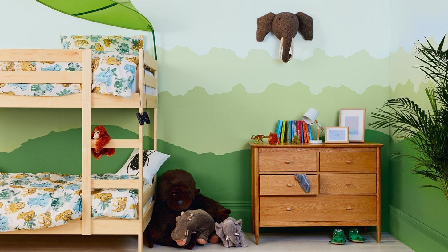 Kids Bedrooms - How to create a jungle bedroom  Dulux - Childrens Bedroom Ideas Jungle