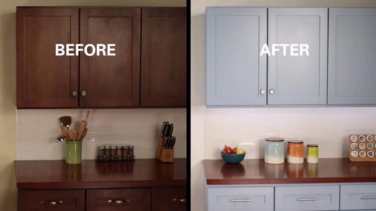 KILZ® How To: Refinish Kitchen Cabinets - Youtube Painted Kitchen Cabinets