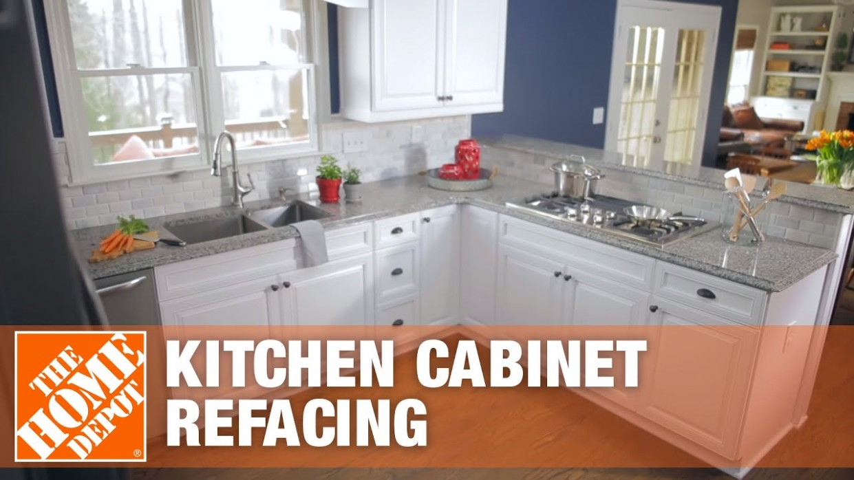 Kitchen Cabinet Refacing  The Home Depot - Kitchen Cabinets Refinishing Services