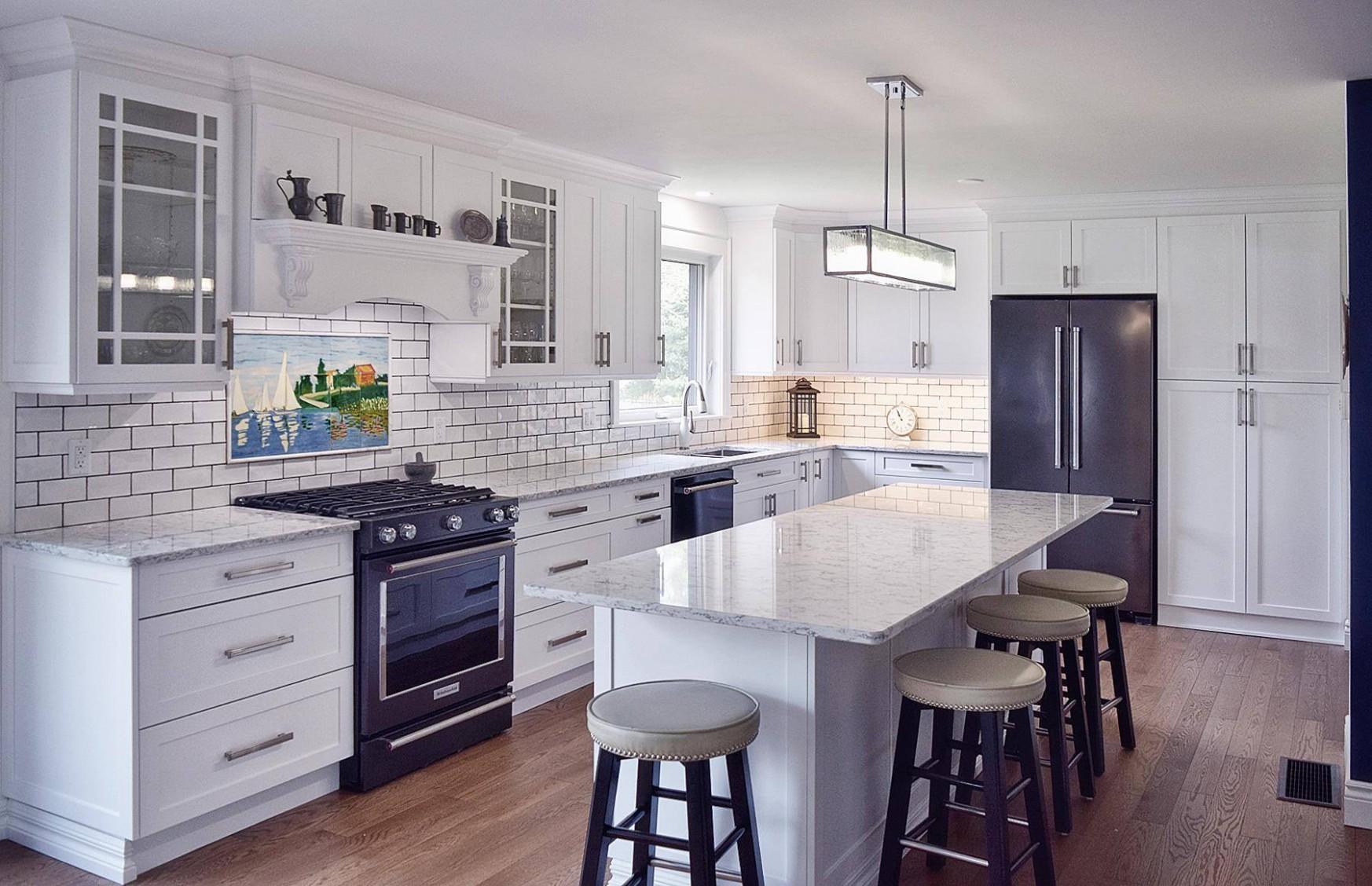 Kitchen cabinets design ideas - White Kitchen Cabinets And Quartz Countertops