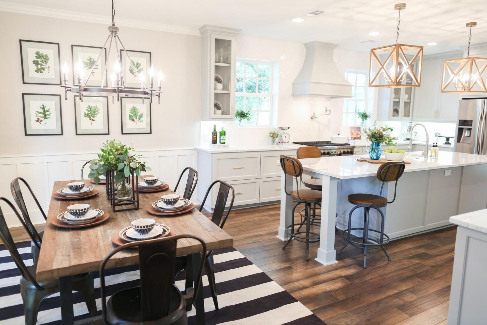 Kitchen Dining Room Designs Combine – Saltandblues - Dining Room Open To Kitchen Ideas