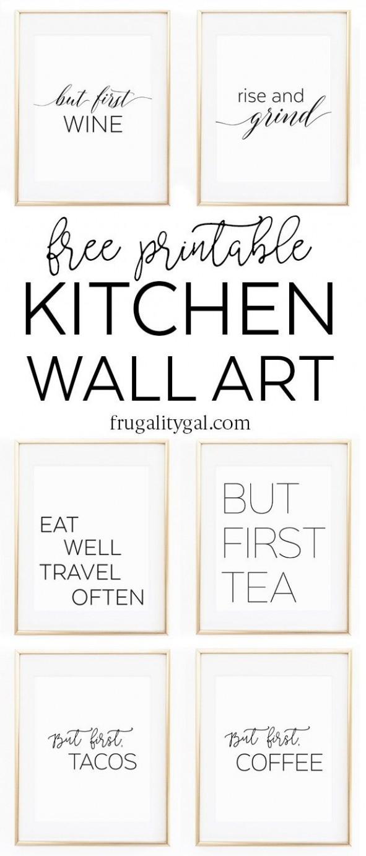 Kitchen Gallery Wall Printables  Free Printable Wall Art  - Apartment Kitchen Wall Decor Ideas