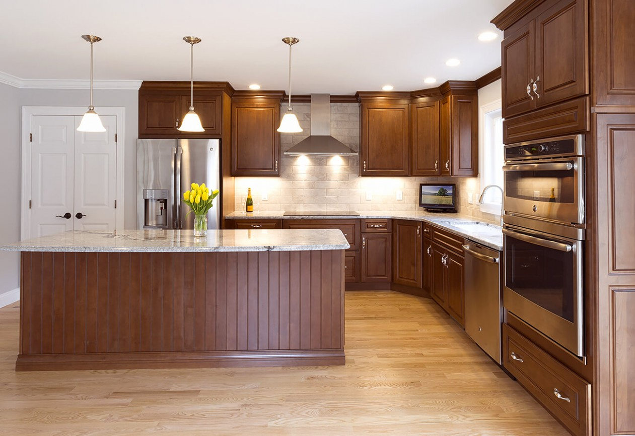 Kitchen Remodel with Decorative End Panels  Viking Kitchen Cabinets - Kitchen Cabinet Decorative End Panels