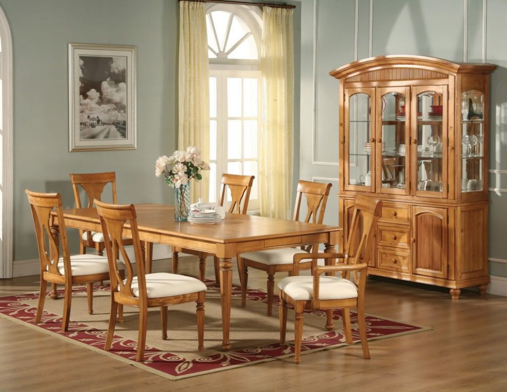 Lexington Formal Dining Light Oak Table Chairs Homelegance  Oak  - Dining Room Ideas With Oak Furniture