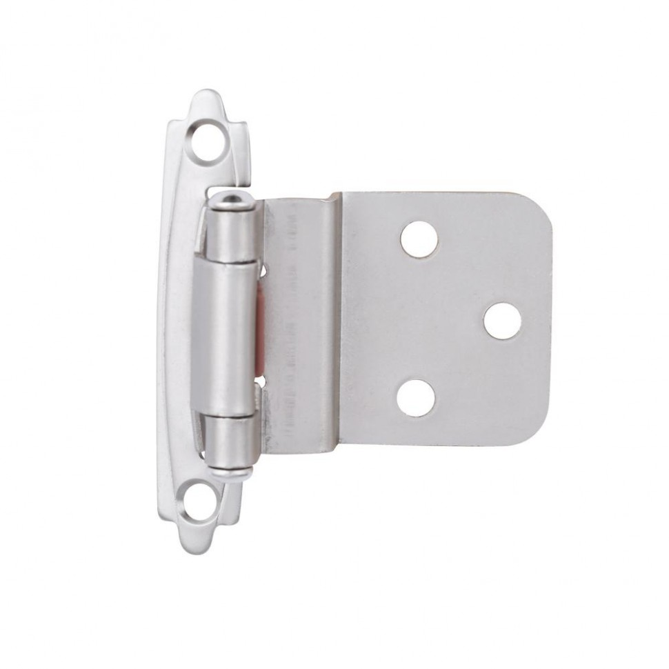 Liberty Satin Nickel Self-Closing Overlay Cabinet Hinge (11-Pair  - Chrome Hinges For Kitchen Cabinets