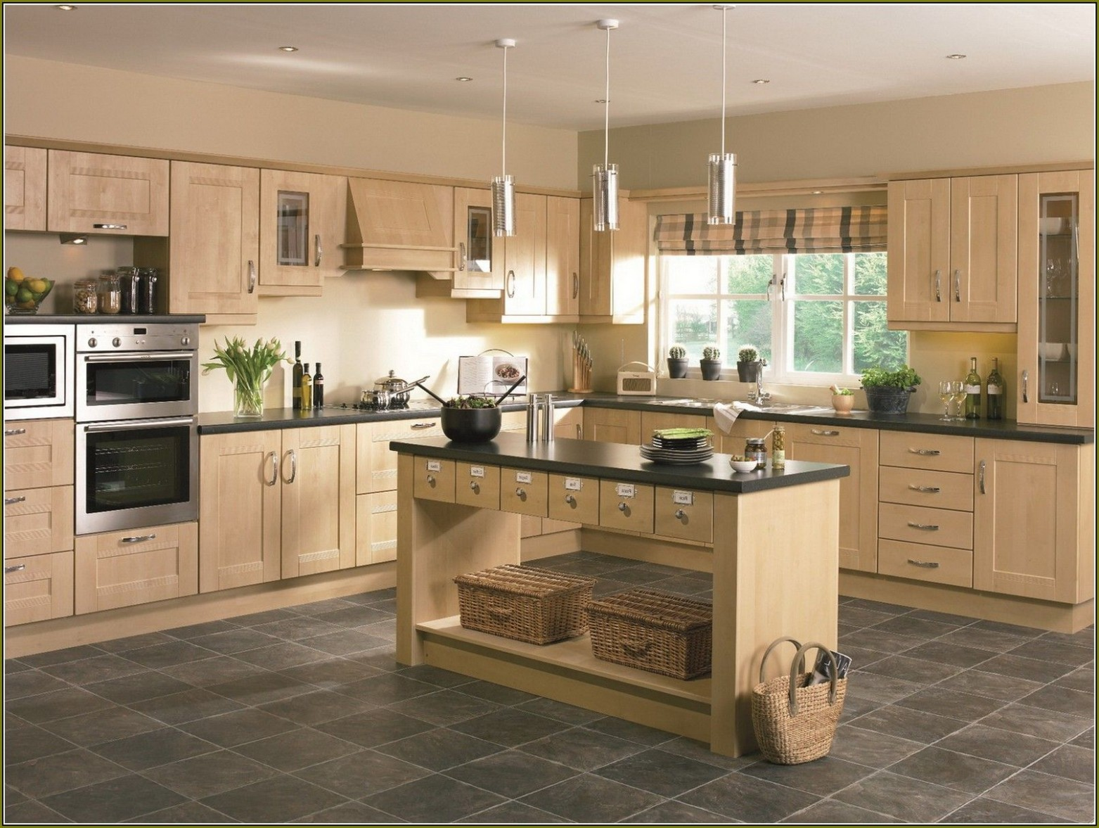 Light Birch Kitchen Cabinets