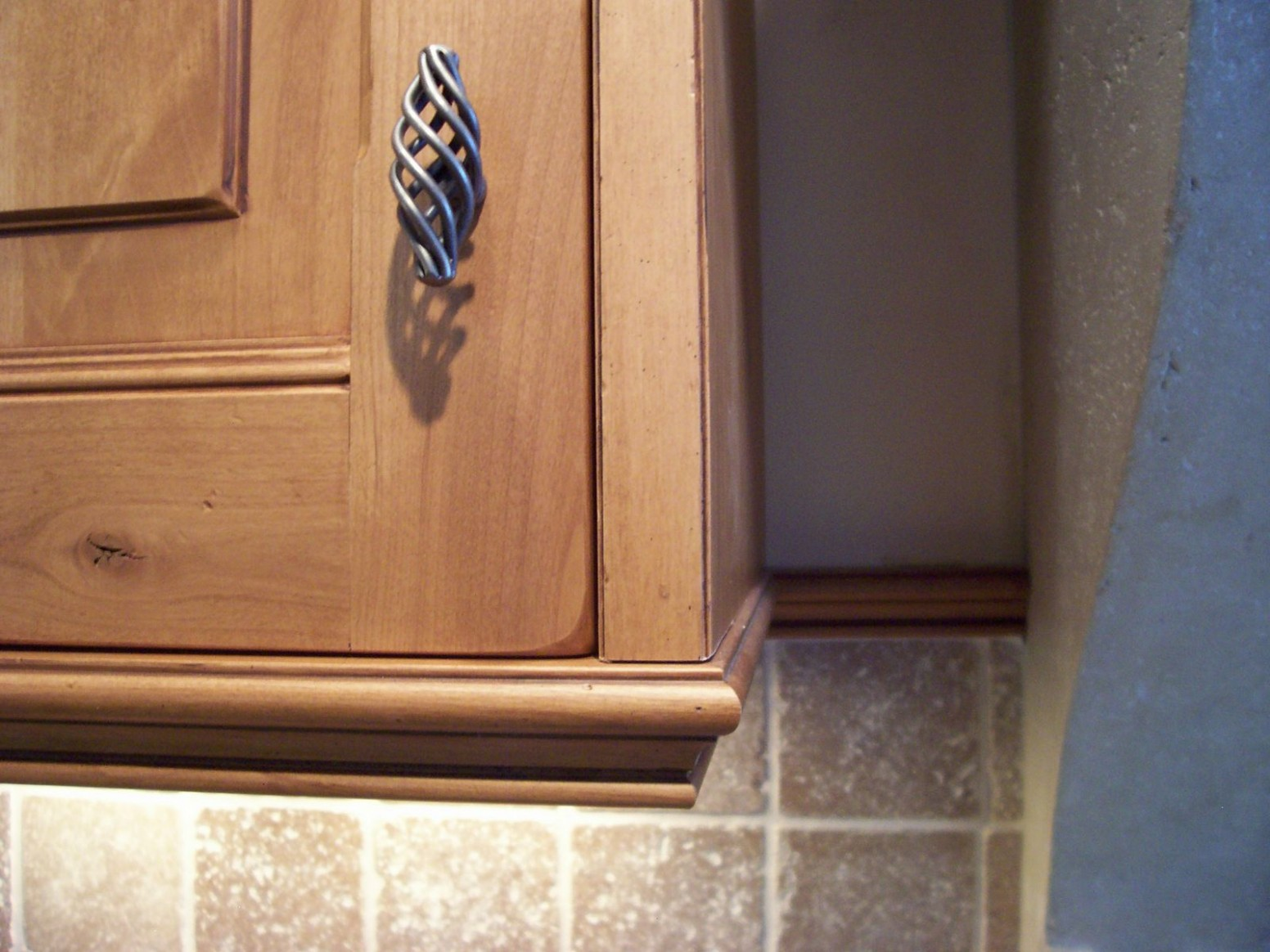 Light valance is great for finishing the bottom of a wall cabinet  - How To Finish The Bottom Of Upper Kitchen Cabinets