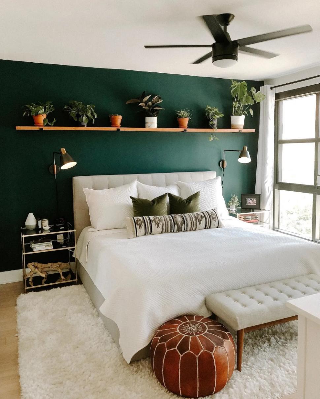 Lito Almond Cream Queen Headboard  Article  Green bedroom walls  - Bedroom Ideas Dark Green