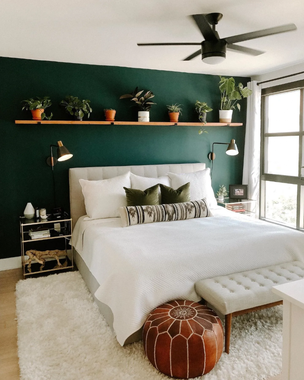 Lito Almond Cream Queen Headboard  Article  Green bedroom walls  - Bedroom Ideas Green