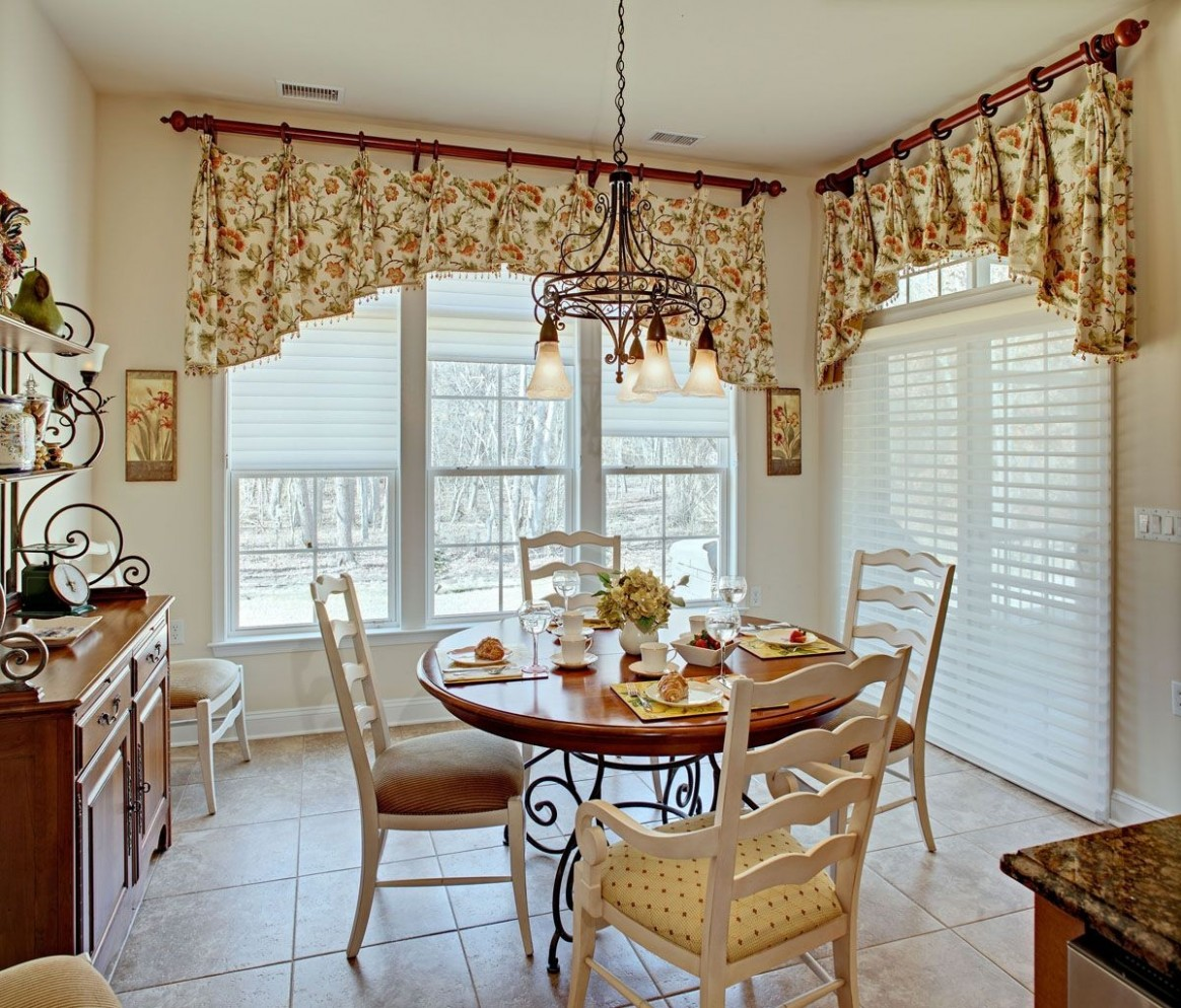 Living Room Curtain Country Style Nice Looking Home Decor  - Dining Room Drapery Ideas