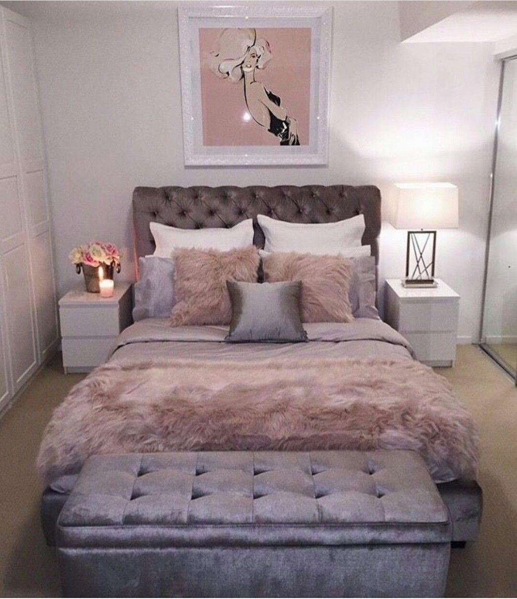 love the neutrals in this room and how serene and peaceful and not  - Bedroom Ideas Rose Gold