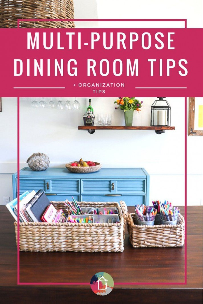 LOVE these dining room storage and organization ideas