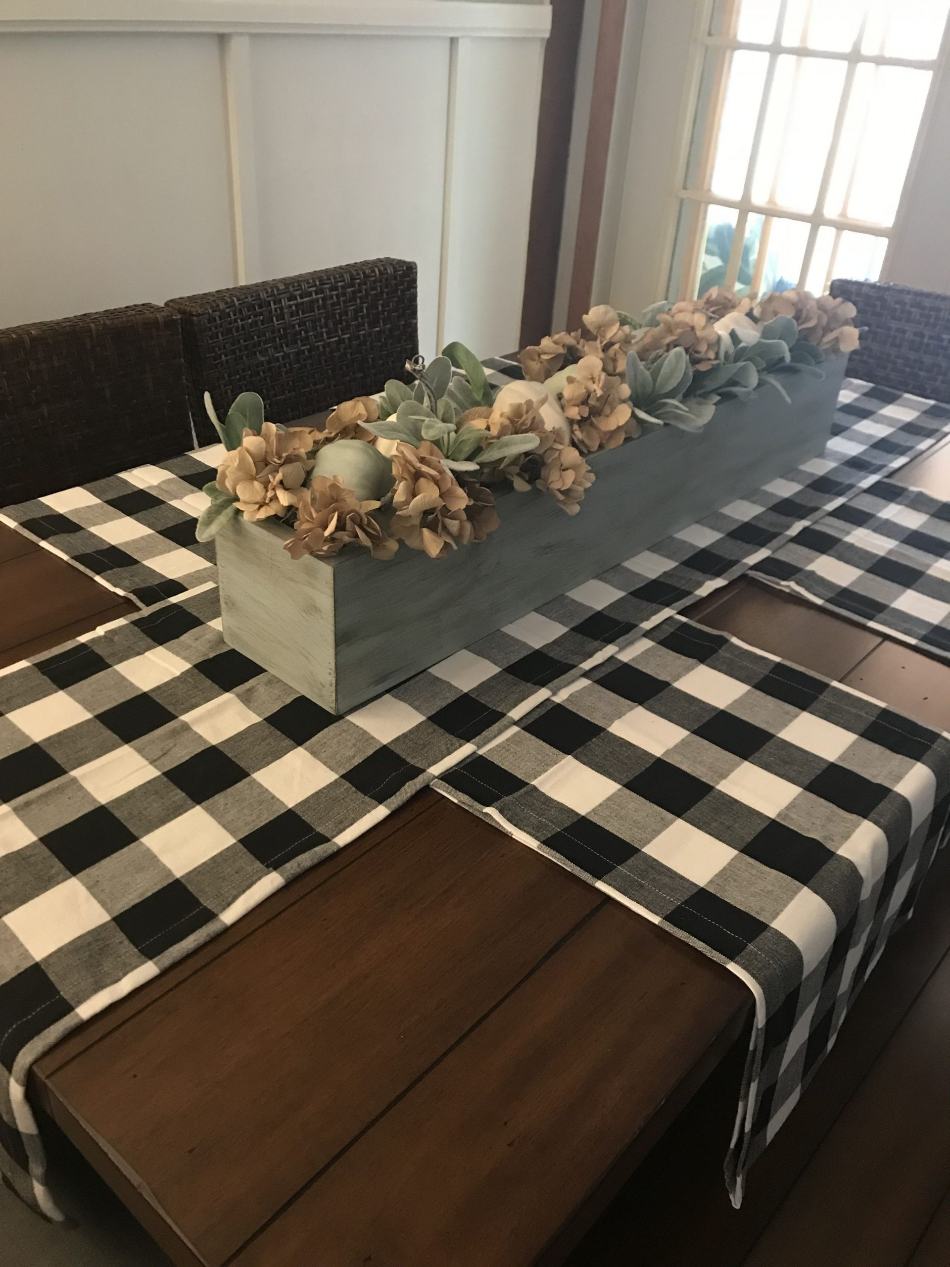 Love this idea of runners instead of place mats  Dining room  - Dining Room Runner Ideas