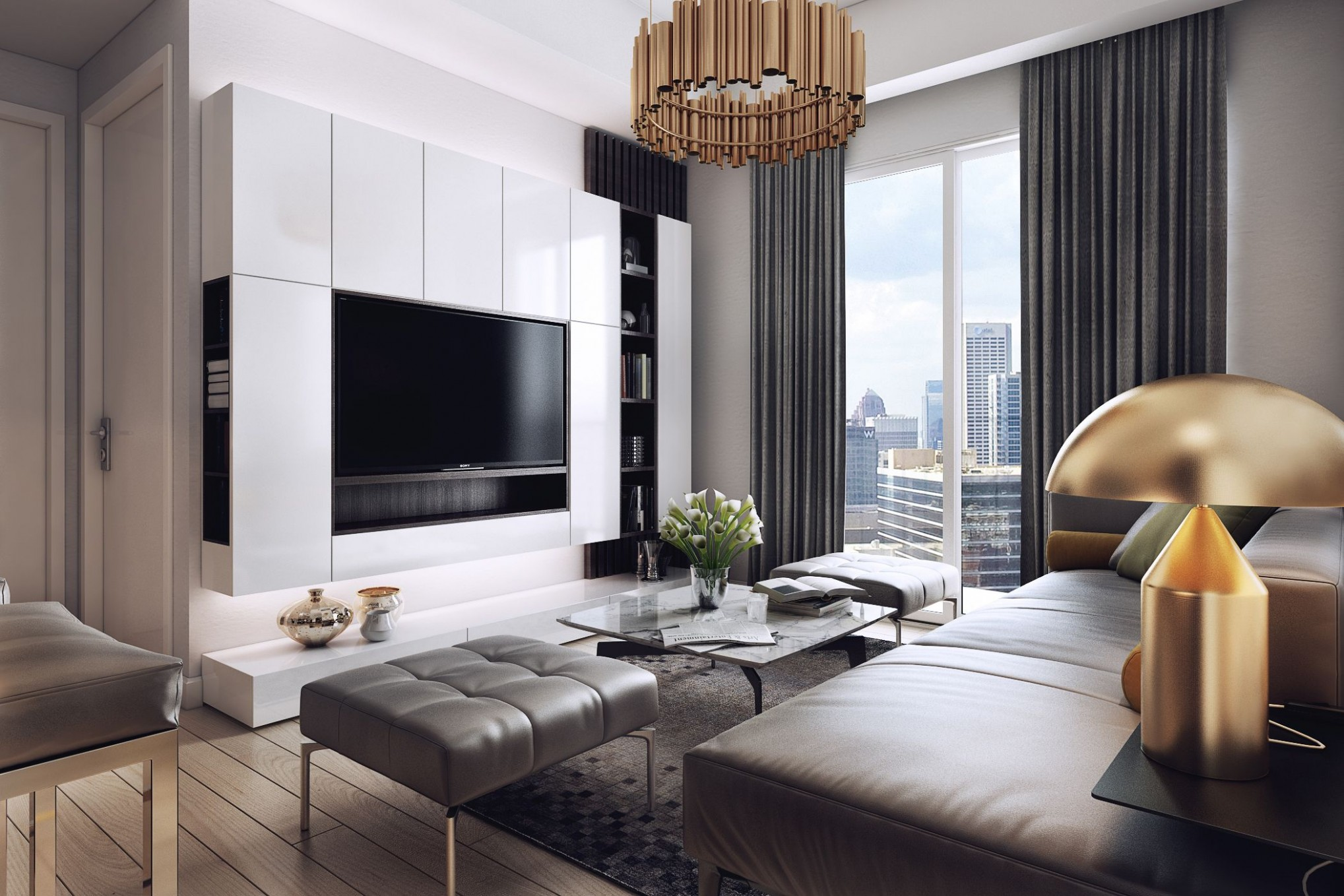 Luxurious Apartment with Dark Interiors and Stunning Lighting/ SEE  - Apartment Home Design