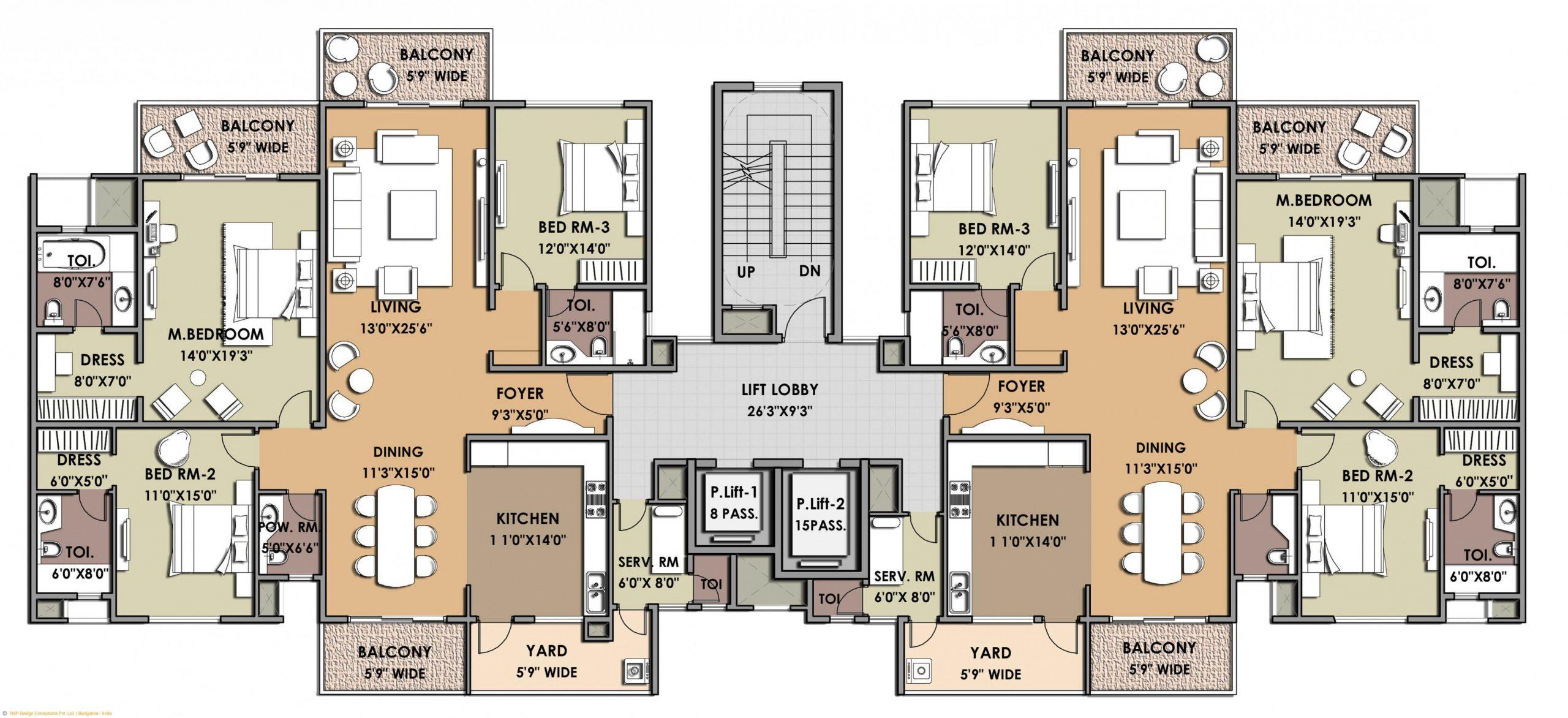 Luxury Apartment Complex  House floor plans, Floor plans  - Apartment Unit Design
