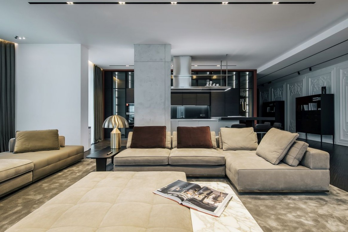 Luxury Apartment With A Sophisticated And Dramatic Interior Design - Apartment Home Design