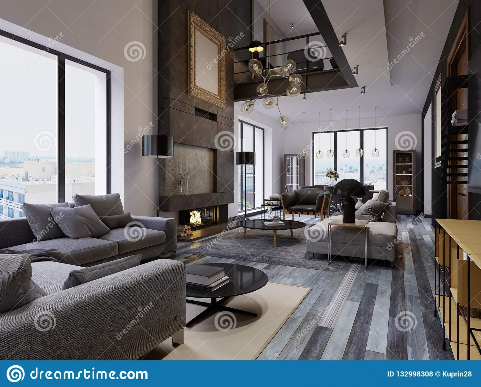 Luxury Duplex Loft-style Apartment, Contemporary Furniture And  - Apartment Duplex Design