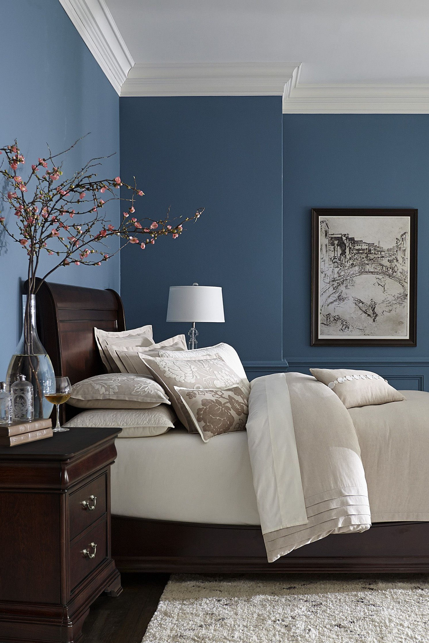 Made with hardwood solids with cherry veneers and walnut inlays  - Bedroom Ideas Paint