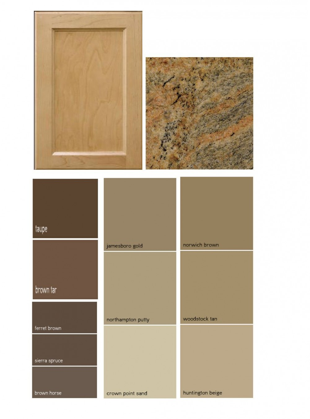 Match a paint color to your cabinet and countertop  Kitchen wall  - Brown Colored Kitchen Cabinets