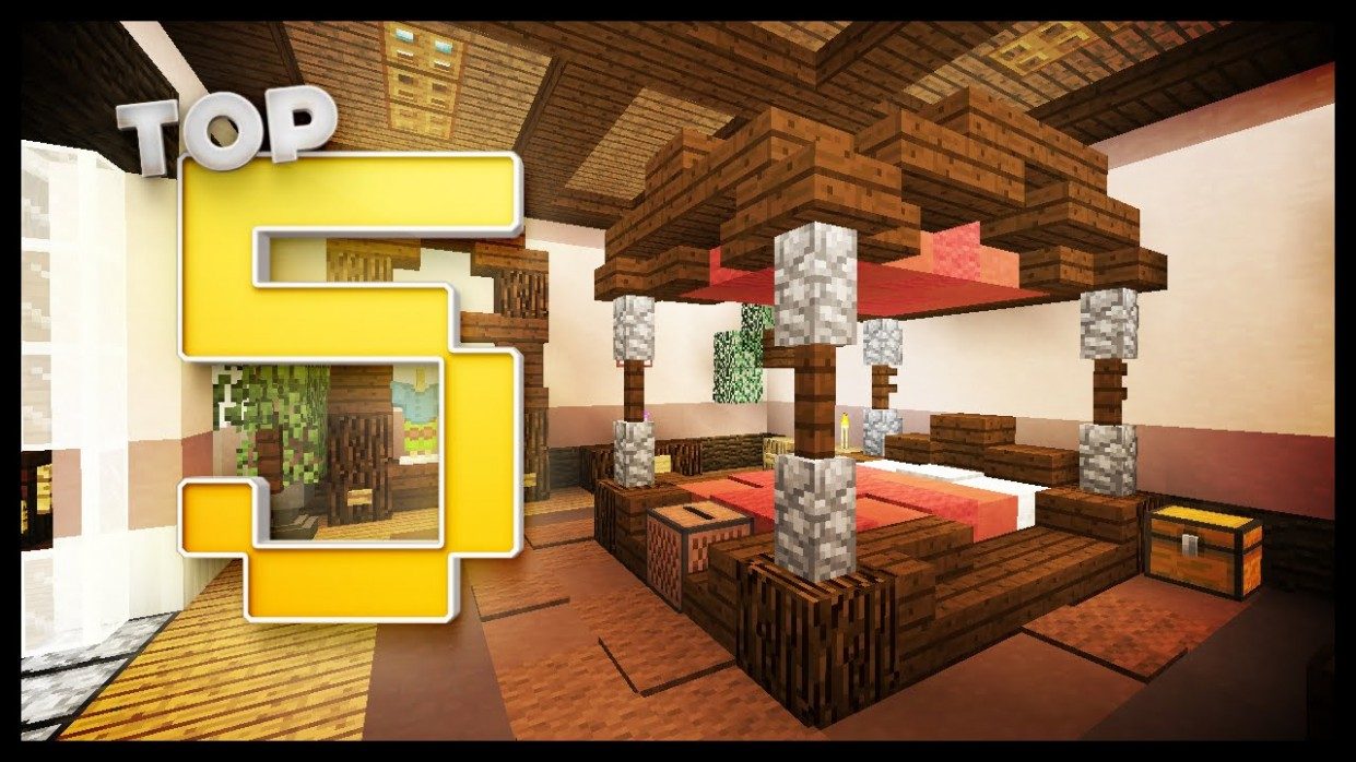 Minecraft: Bedroom Designs & Ideas - YouTube - Bedroom Ideas In Minecraft