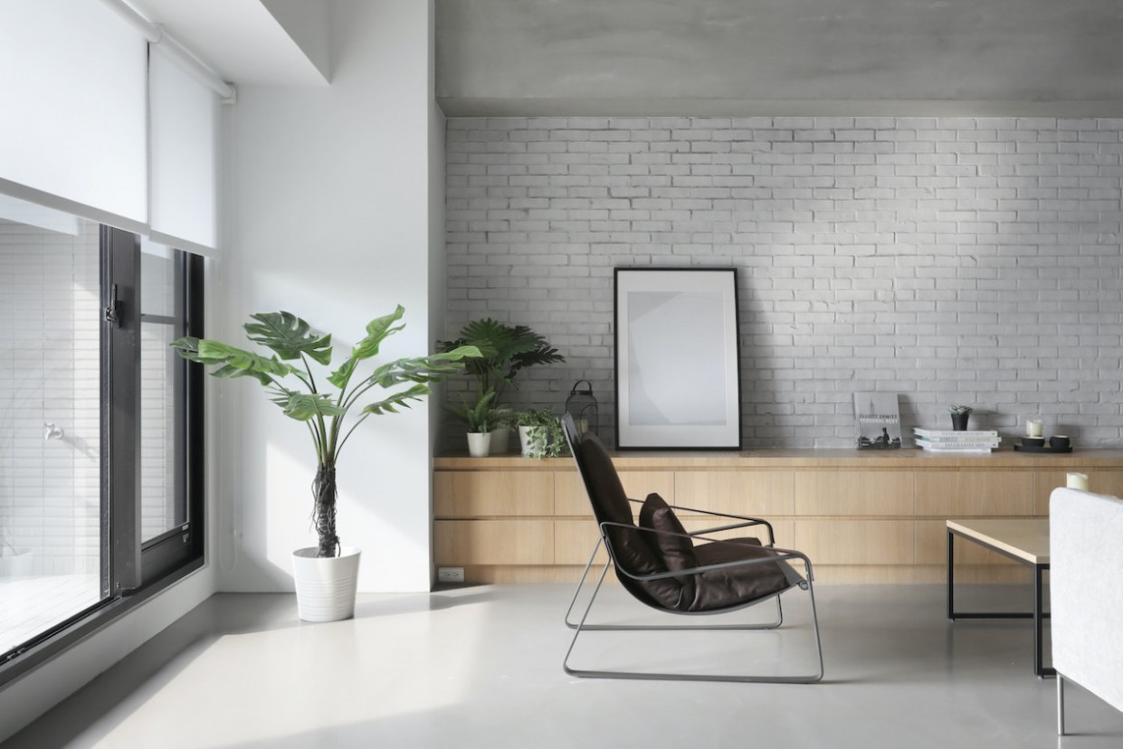 Minimalist Apartment in Taichung by THEY Department - Apartment Design Minimalist