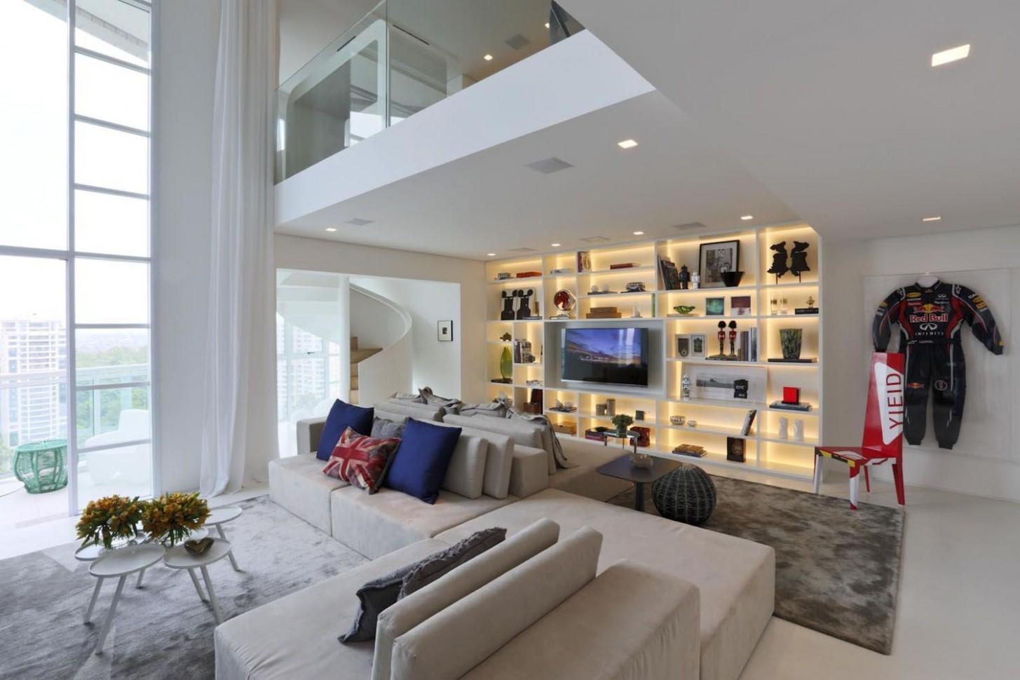 Minimalist Luxury Duplex Apartment In São Paulo  iDesignArch  - Apartment Duplex Design