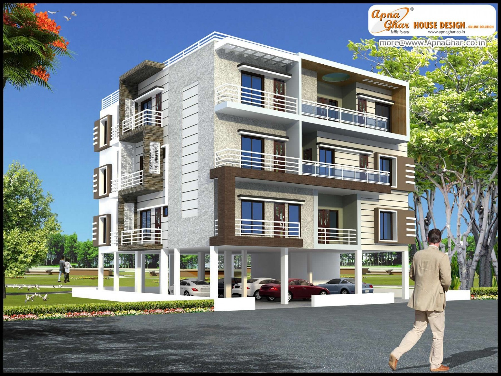 Modern Apartment Exterior Design An Online Complete Architectural  - Apartment Outer Design