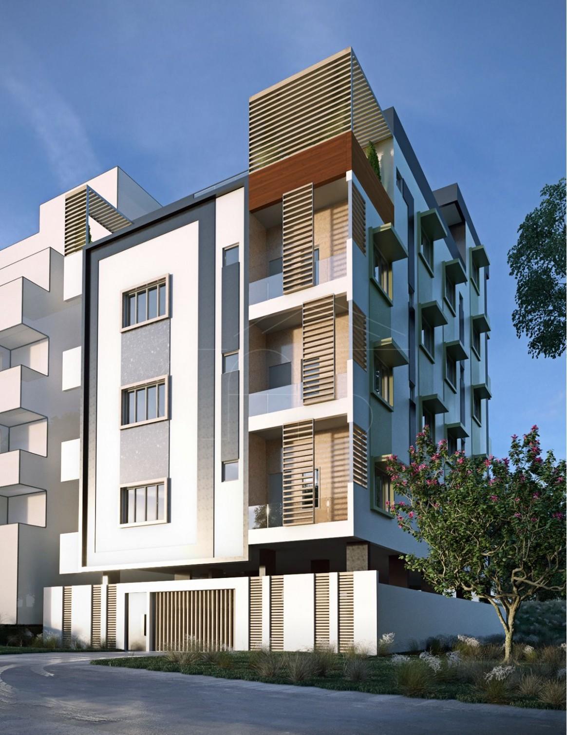 Modern Apartment Exterior Design - Bengaluru, India  Bina - Apartment Exterior Design India