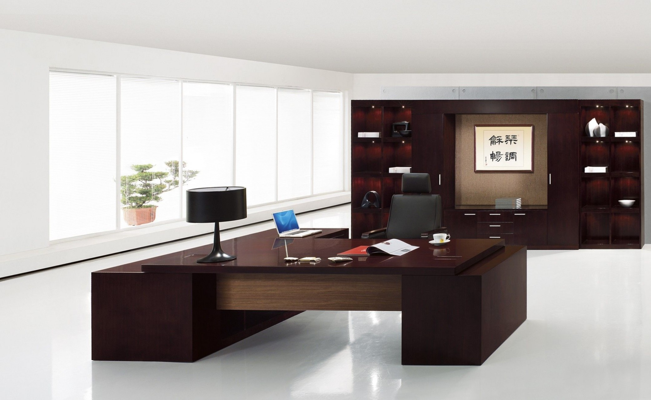 Modern Executive Home Office Desks  Modern office furniture desk  - Executive Home Office Ideas