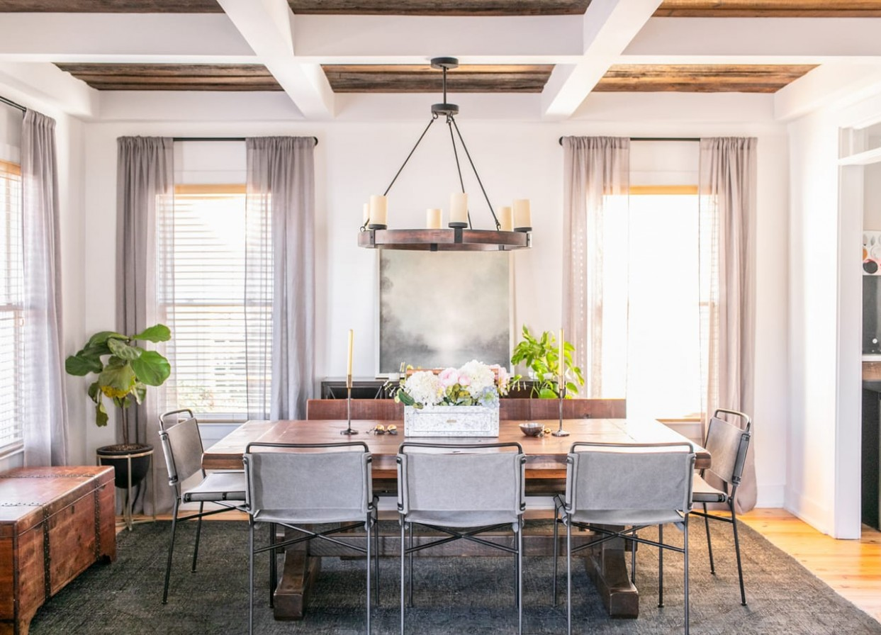 Modern Farmhouse Dining Room Ideas  Root + Revel  Healthy Living  - Dining Room Ideas Modern Farmhouse