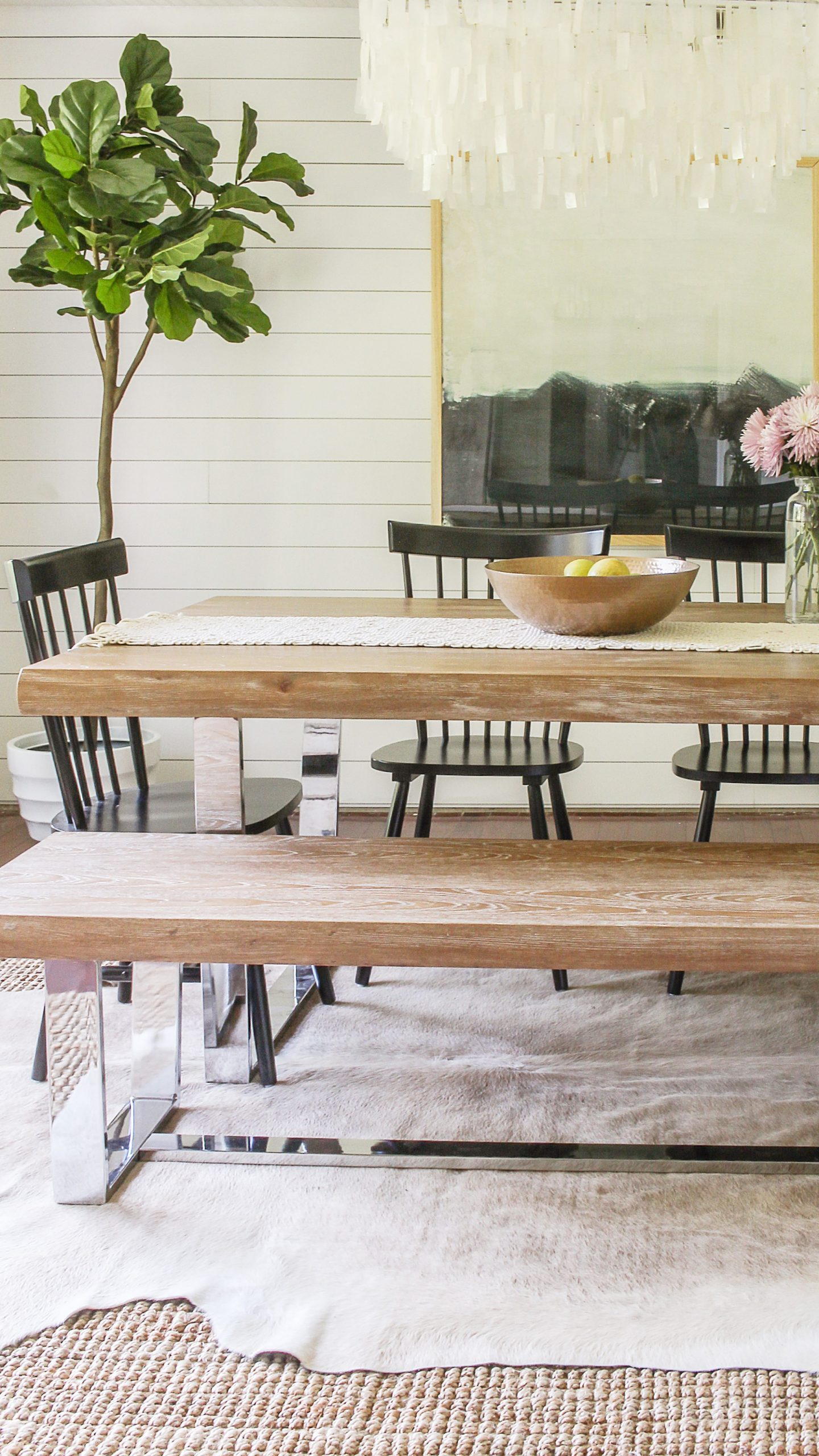 Modern Farmhouse Dining Room Reveal- Interior Design Ideas on a Budget - Dining Room Ideas Modern Farmhouse