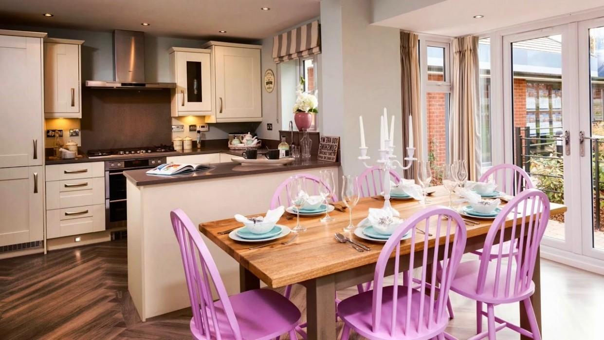 Modern Open Concept - Kitchen Dining Combination Ideas - Dining Room Kitchen Ideas