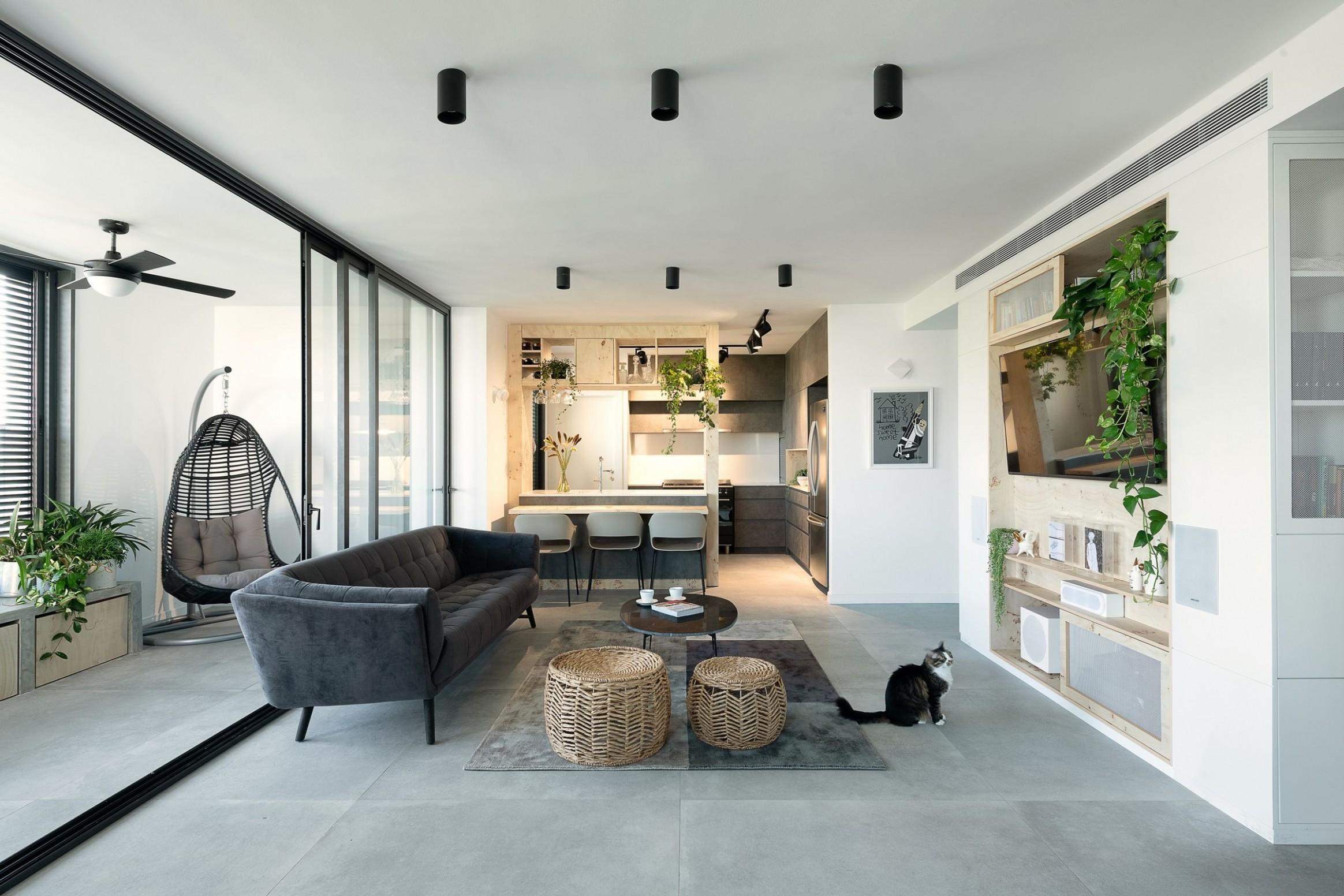 Modern Urban apartment in Tel Aviv  Studio Perri Interior Design  - Apartment Home Design