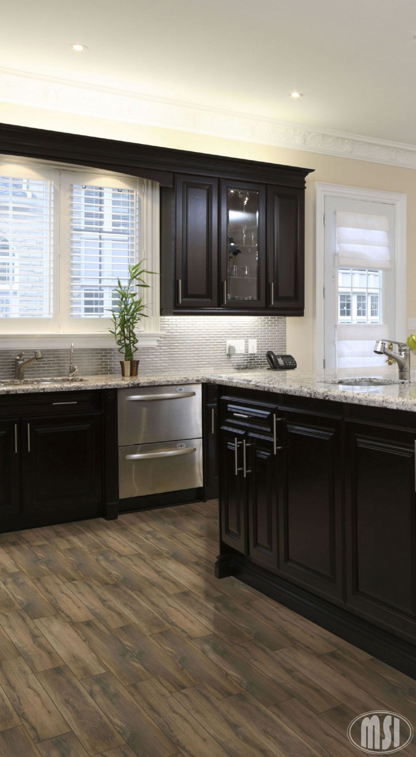 Moon White Granite Slab  Home kitchens, Kitchen remodel, Kitchen  - Kitchen Cabinets With Dark Floors