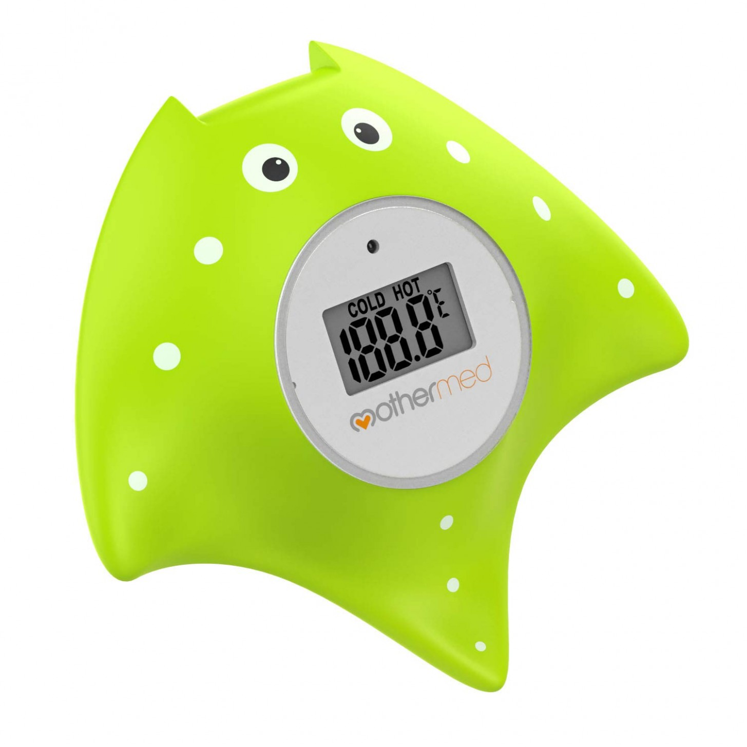 MotherMed Baby Bath Thermometer and Floating Bath Toy Bathtub Safety  Temperature Thermometer Green Fish Only for Fahrenheit - Baby Room And Bath Thermometer