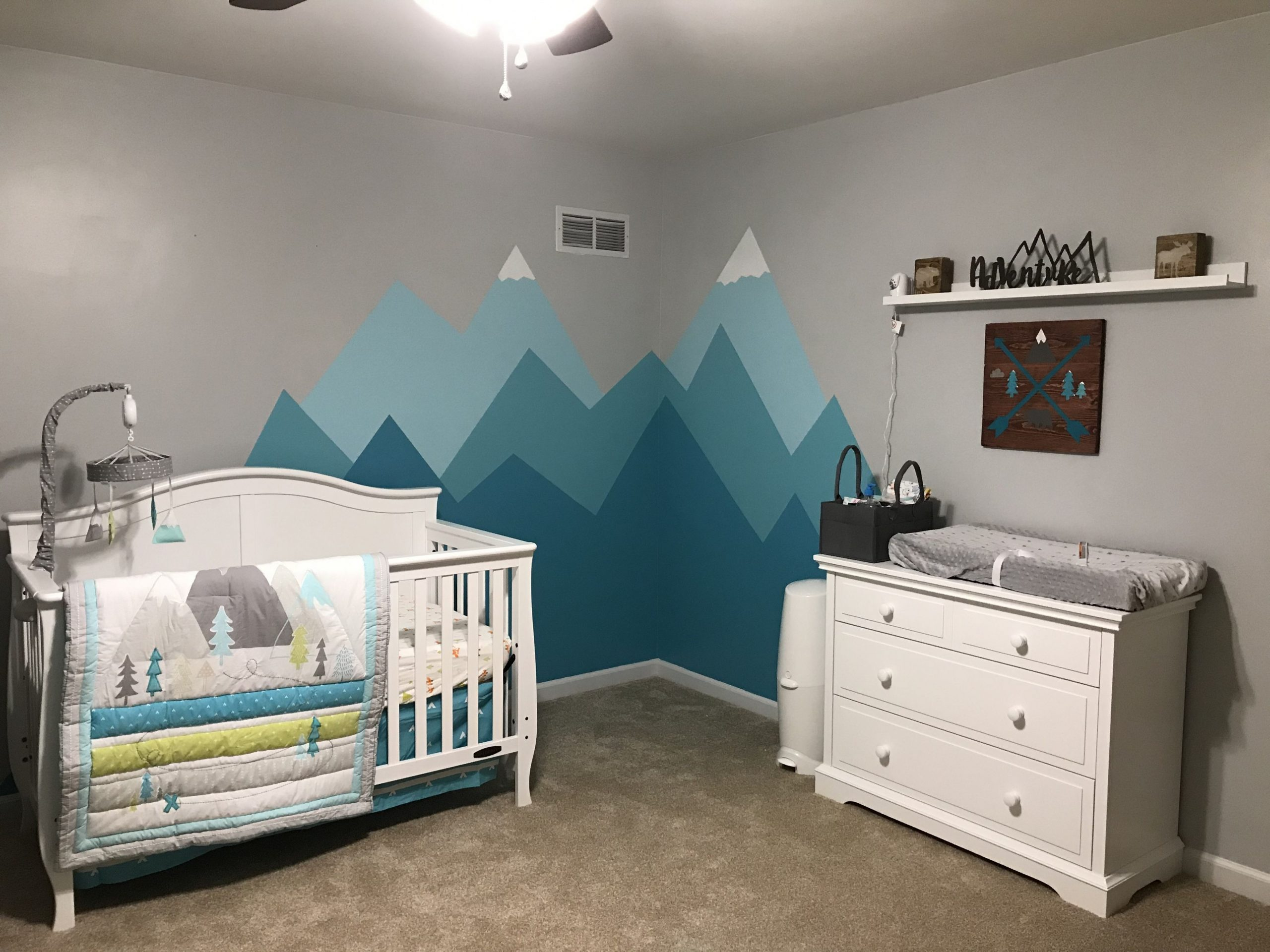 Mountain theme nursery  Nursery baby room, Nursery themes  - Baby Room Mountain Theme