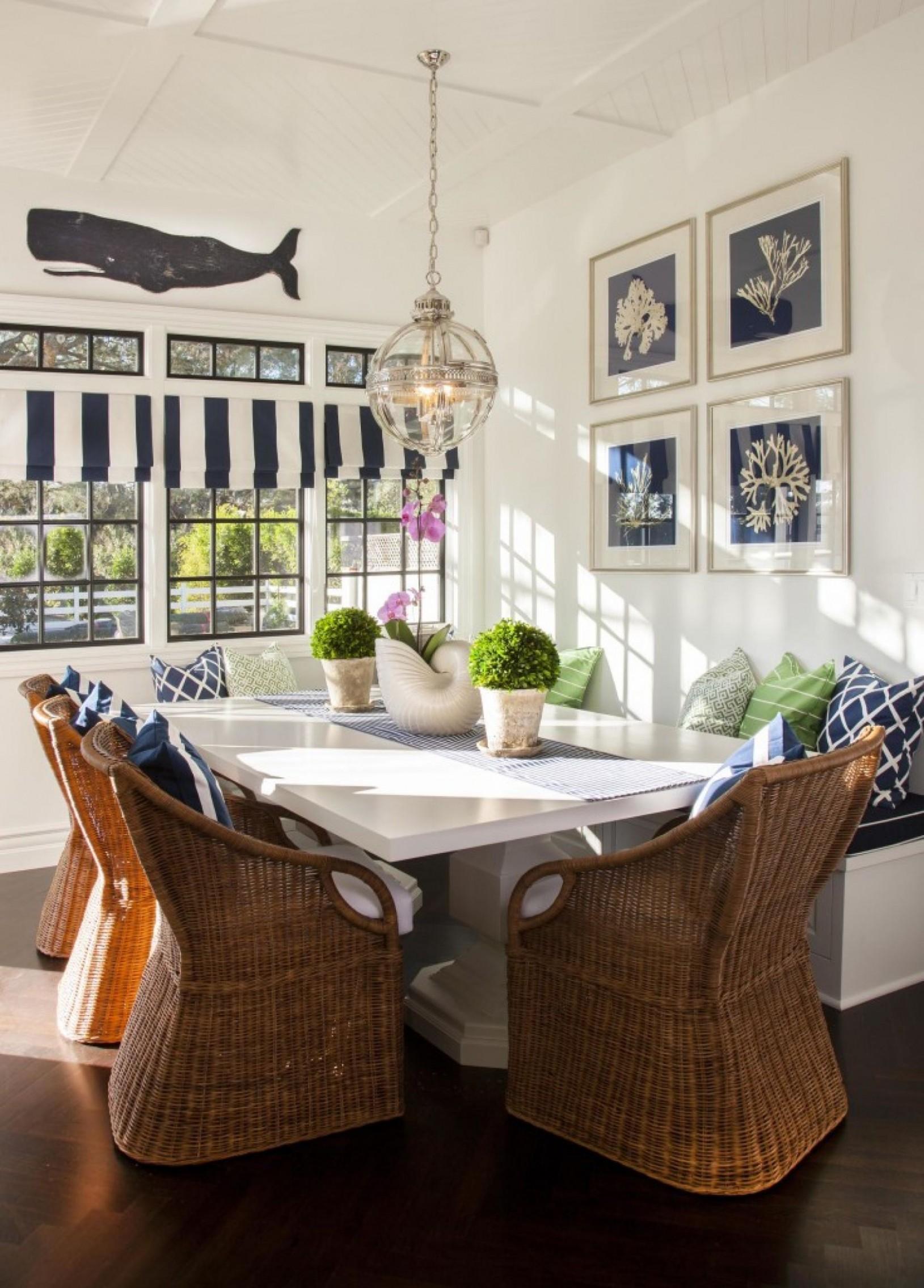 Nautical Inspired Beach House Dining interior design ideas dining  - Nautical Dining Room Ideas